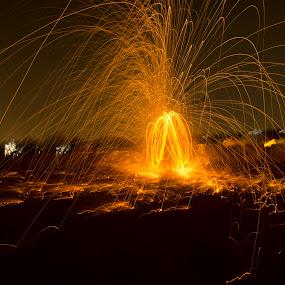 Steel Wool by Palak Patel - City,  Street & Park  Night