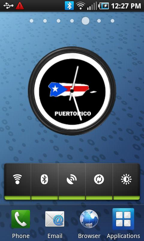 Puerto Rico Clock Widget- screenshot