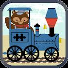 子供向け列車ゲーム:動物園鉄道車両パズル icon