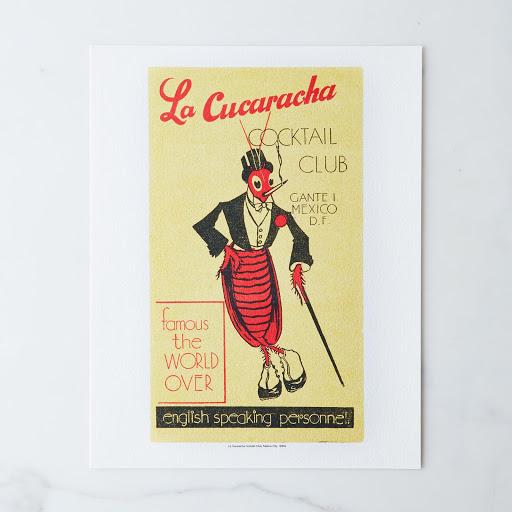 Vintage Menu Print: La Cucaracha