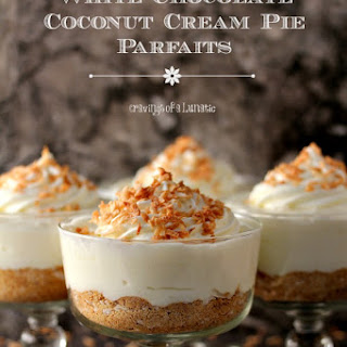White Chocolate-Coconut Cream Pie Parfaits
