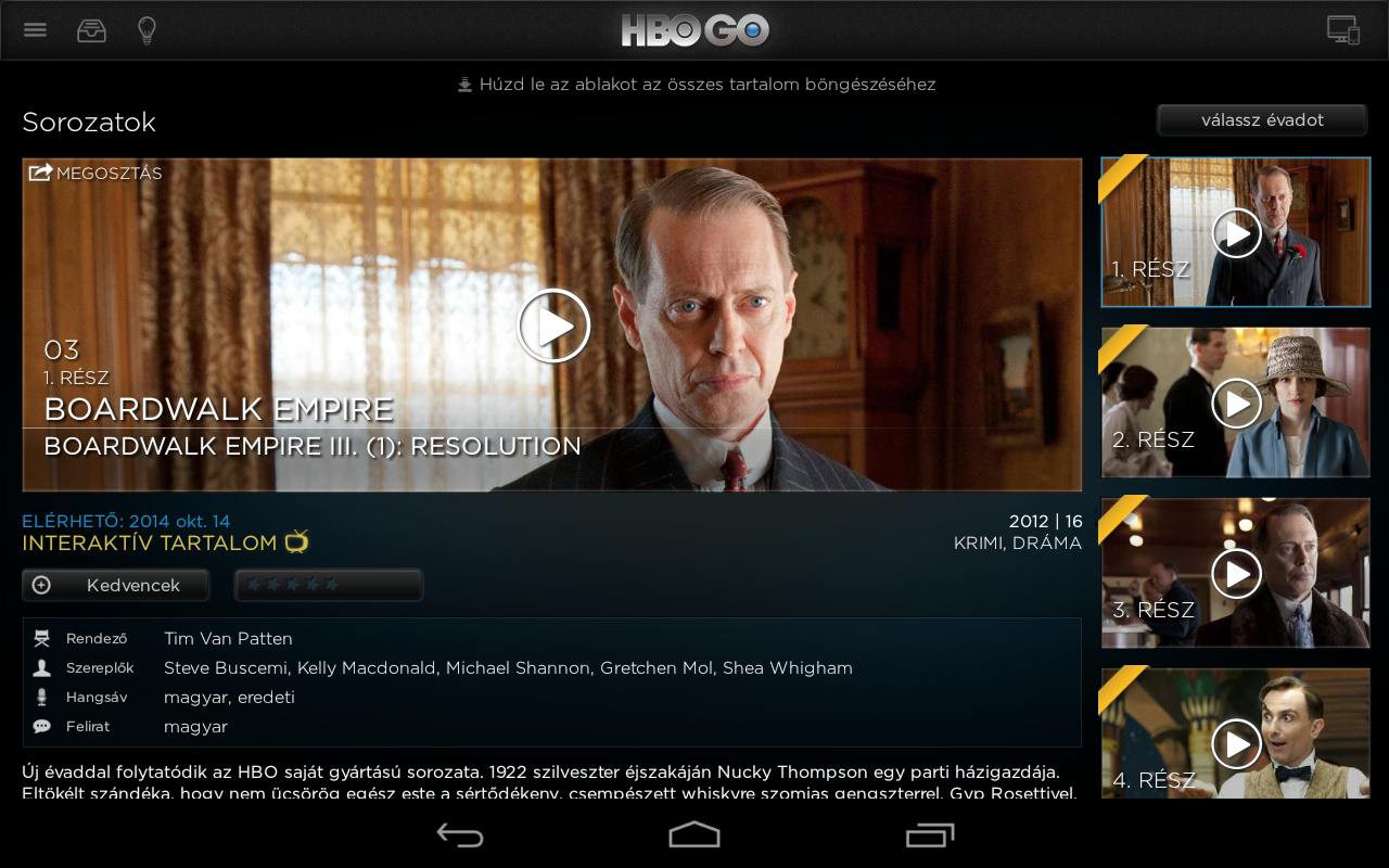 HBO GO Hungary - screenshot