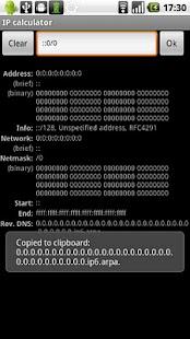 IP calculator (Samsung) - deprecated- screenshot thumbnail