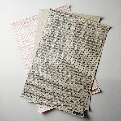 Contemporary Gift Wrap, 4 Sheets