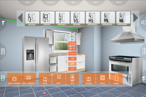 App eurostyle kitchen 3d design app app for Planificador 3d