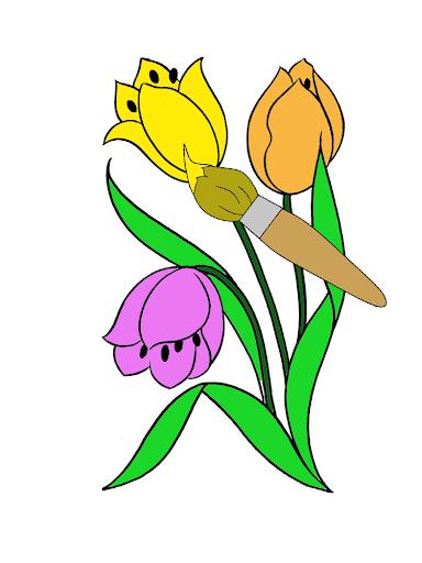 ระบายสีดอกไม้