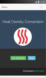 Heat Density Conversion Screenshot 2