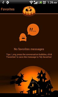 GO SMS Pro Halloween theme - screenshot thumbnail