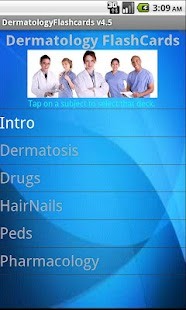 Dermatology Flashcards screenshot for Android