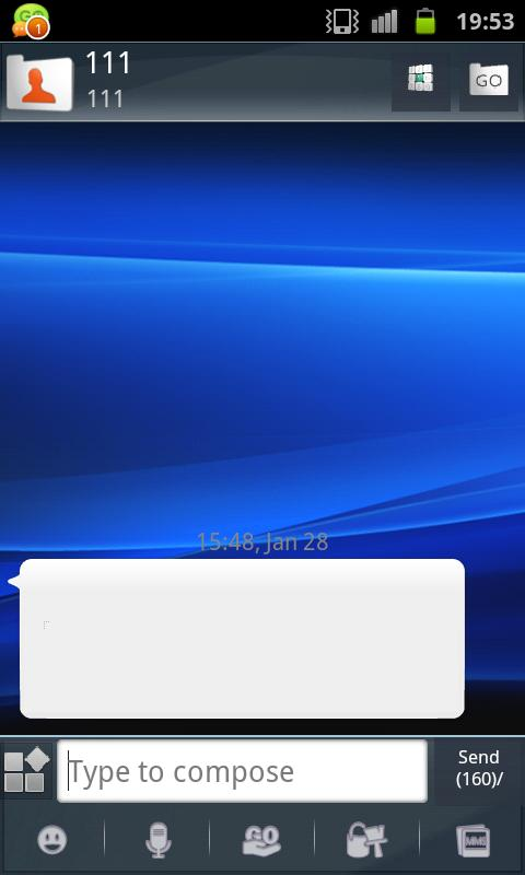 GOSMS Theme Xperia - screenshot