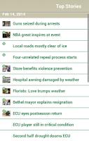 Screenshot of The Daily Reflector