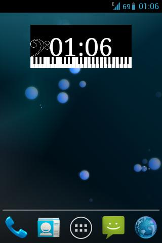 Piano Clock Widget