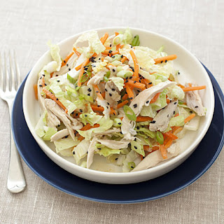 Chinese Chicken-Cabbage Salad with Peanut Sauce