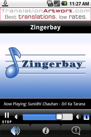 Zingerbay Radio- screenshot