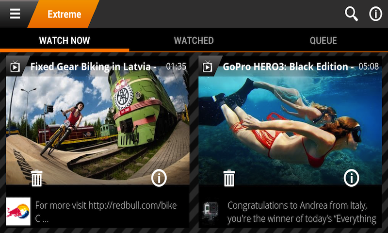 Incoming TV - HD mobile video - screenshot
