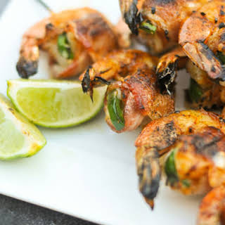 Bacon-Wrapped, Jalapeno and Cheese-Stuffed Shrimp.