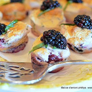 ~blackberry And Fresh Basil Dessert Bites~.