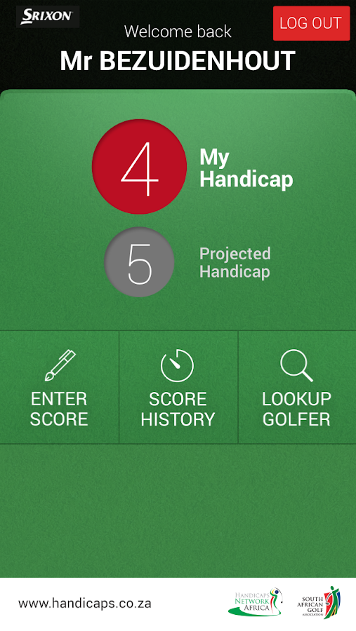 HNA Handicaps- screenshot