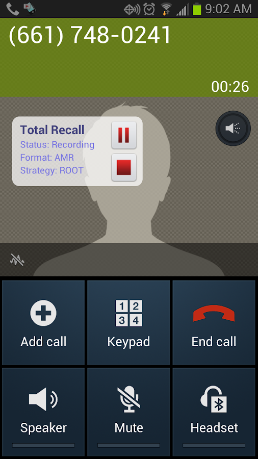 Galaxy S4 & S5 Call Recorder - screenshot