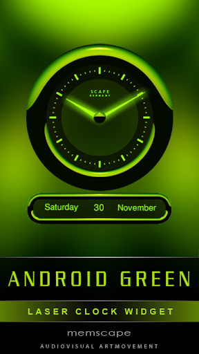 Laser Clock ANDROID GREEN