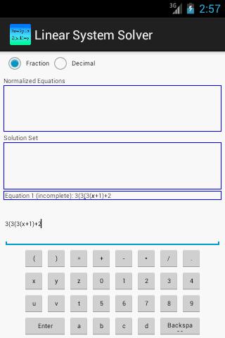 【免費工具App】Linear System Solver-APP點子