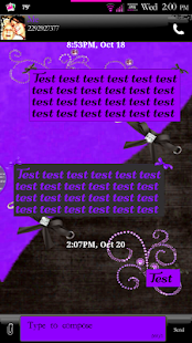 Simply Passion GO SMS Theme- screenshot thumbnail