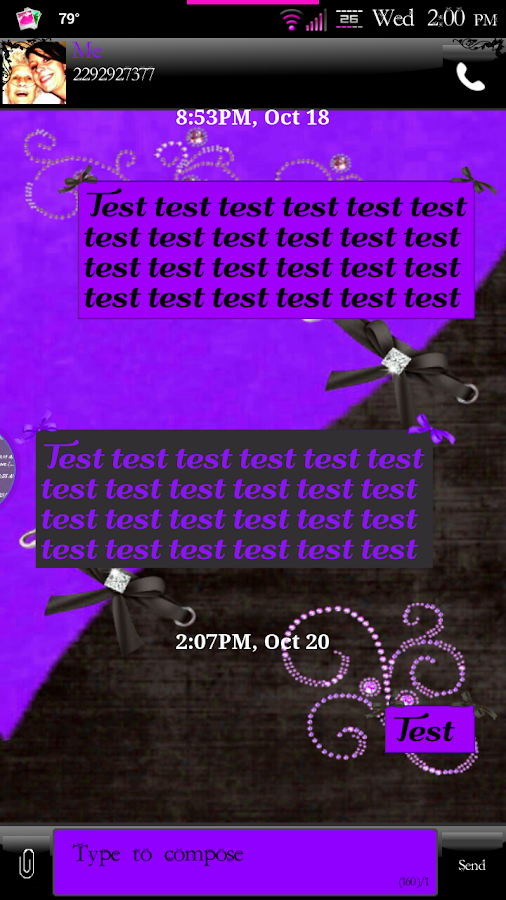 Simply Passion GO SMS Theme- screenshot