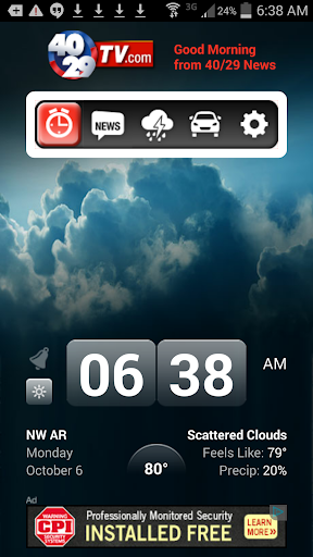 Alarm Clock 40 29 TV KHBS KHOG
