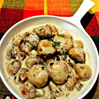 Creamy Garlic Mushrooms.