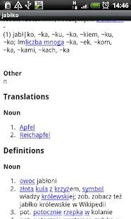 Polish-German Dictionary - screenshot thumbnail