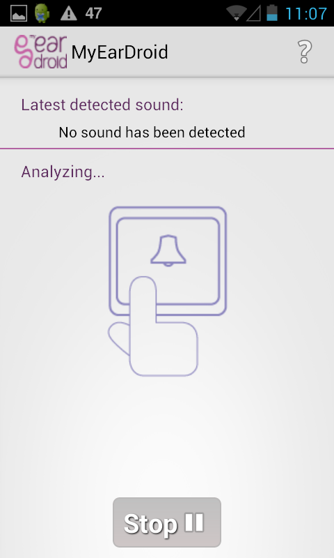 MyEarDroid - Sound Recognition – Capture d'écran