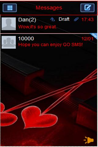 Valentine's Day 2013 GO SMS - screenshot