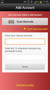 Garena Authenticator - screenshot thumbnail