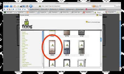 Fring on various handsets