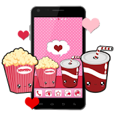Go Launcher Theme: Kawaii Love