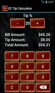 EZ Tip Calculator Pro- screenshot thumbnail