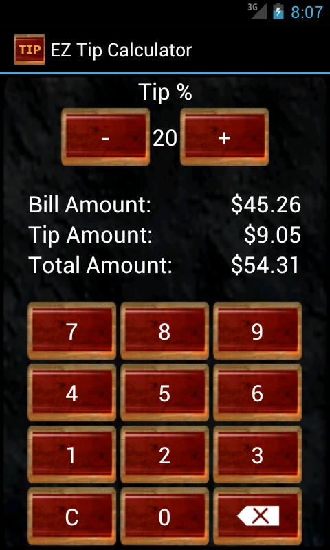 EZ Tip Calculator Pro- screenshot