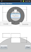 Screenshot of Keyway Calculator