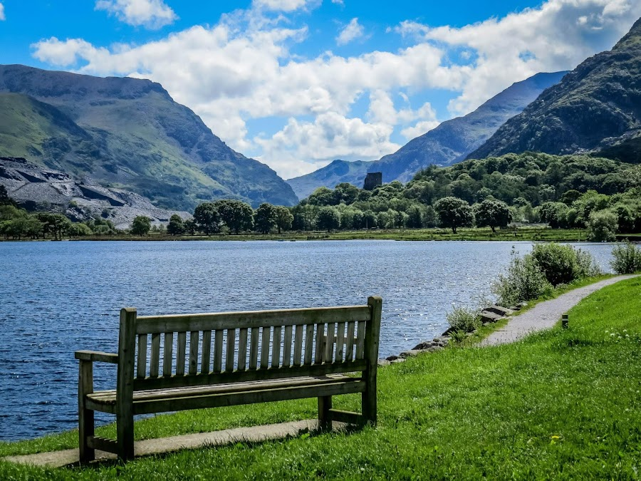 Llyn Padarn by Sue Knight - Landscapes Mountains & Hills
