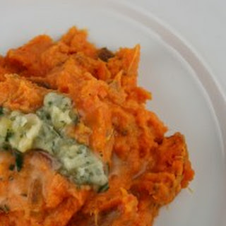Mashed Sweet Potatoes with Rosemary Butter.