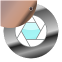 Peephole motion detector icon