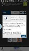 Screenshot of HIIT interval training timer