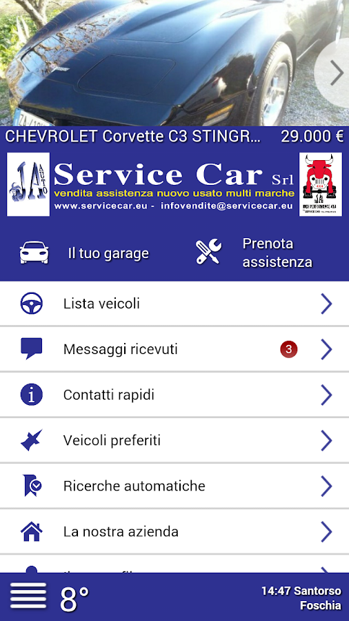 Service Car- screenshot