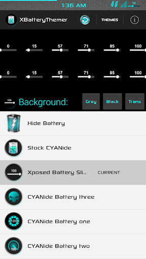 XPOSED Battery Slider