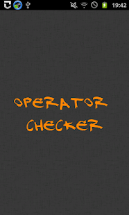 Operator Checker- screenshot thumbnail