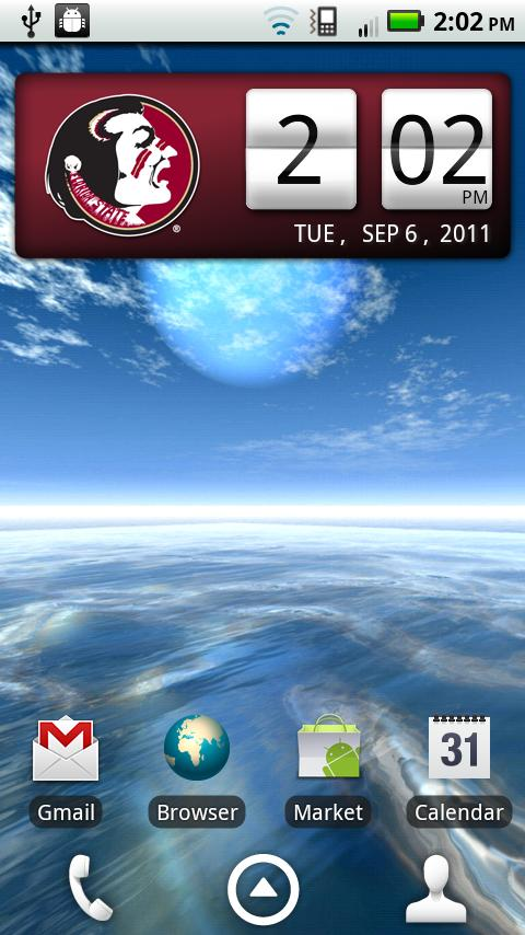 Florida State Seminoles Clock- screenshot