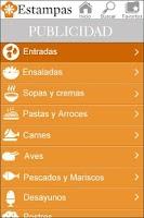 Screenshot of Recipe Estampas
