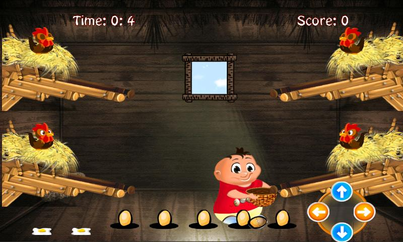 Chicken egg Catcher: Farm Game - screenshot