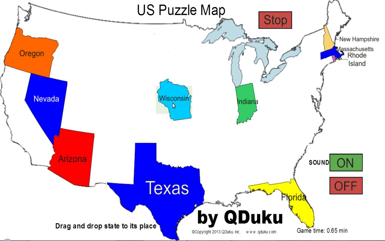 US States Map Puzzle Game Android Apps On Google Play - Us state map