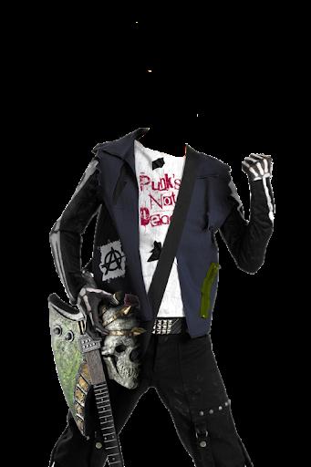 Gothic Man Suit Photo Maker